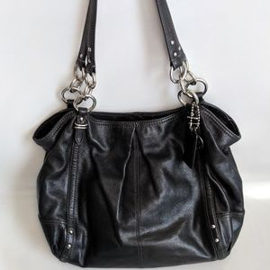 Coach Alexandra Tote Black Leather #16244